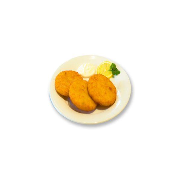 Kartoffelpuffer (3 Stück) mit Knoblauchsauce