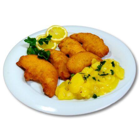 Gebackenes Hühnerfilet + Kartoffelsalat