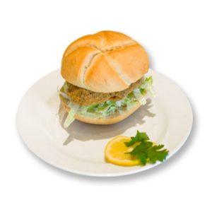geb. Putenlaibchen Semmel mit Käse