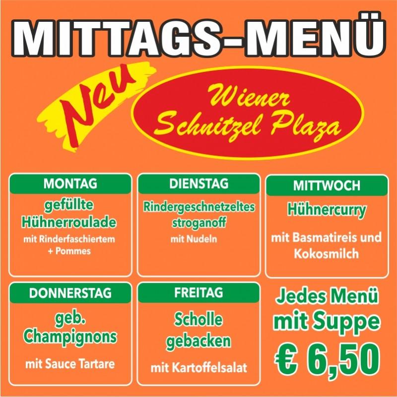 Mittagsmenü - Wiener Schnitzel Plaza
