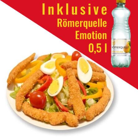 Menü: Hühnerstreifensalat + Dressing