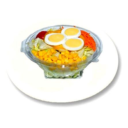 Salatplatte mit Ei