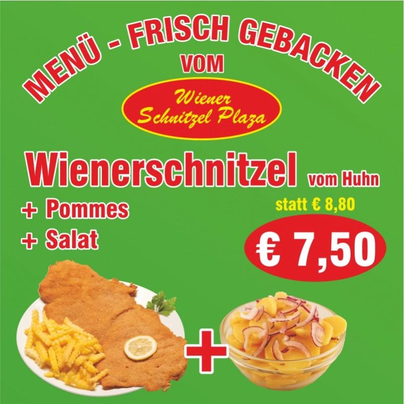 Menü - Wienerschnitzel (Huhn)