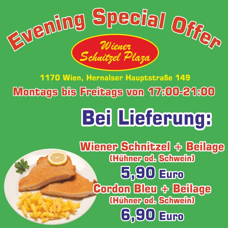 Special Evening Offer - Wiener Schnitzel