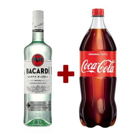 Bacardi Rum 0,7l + 1,5l Coca Cola